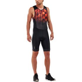 2XU Perform Kombinezon triathlonowy z zamkiem błyskawicznym z przodu Mężczyźni, midnight/fresh ombre